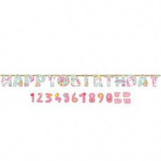 Happy Birthday Mágikus Egyszarvú Számozható Szülinapi Betűfüzér - 3 m