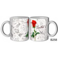 Bögre 3 dl - Rózsa szál