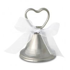 Esküvői Ezüst Harang Ültetőkártya-tartó - 12 db-os