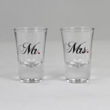 Mr. - Mrs. Feliratú Esküvői Feles Pohár Szett