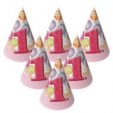 Rózsaszín Léggömbös 1. Számos Születésnapi Party Csákó - 8 db-os