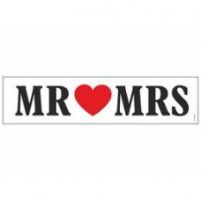 Mr és Mrs Szíves Esküvői Rendszámtábla