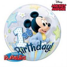 56 cm-es Disney Bubbles Mickey Mouse Első Szülinapi Lufi