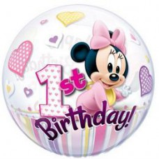 56 cm-es Disney Bubbles Minnie Mouse Első Szülinapi Lufi