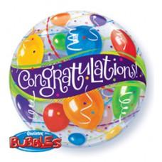 56 cm-es Congratulations Balloons - Gratulálunk Bubbles Lufi