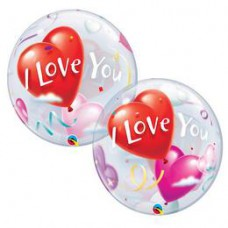 56 cm-es I Love You Heart Balloons Szerelmes Bubble Lufi