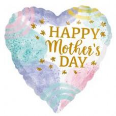46 cm-es Happy Mother's Day Anyák napi Szív Fólia Lufi
