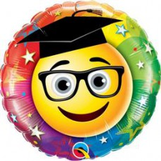 46 cm-es Smiley Graduate - Gratulálunk Ballagási Fólia Léggömb