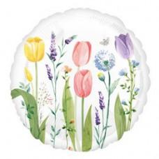 46 cm-es Tulipán Mintás - Tulip Garden Fólia Lufi