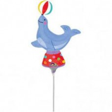 Circus Seal - Cirkuszi Fóka Mini Shape Fólia Lufi