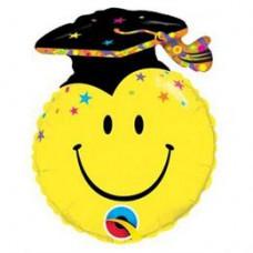 35cm-es Smile Face Party Grad Ballagási Fólia Lufi