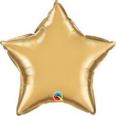 50 cm-es Chrome Gold Csillag Fólia Lufi