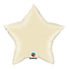 50 cm-es Pearl Ivory Csillag Fólia Lufi