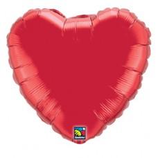 46 cm-es Rubinvörös - Ruby Red Szív Fólia Lufi