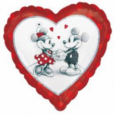 46 cm-es Mickey & Minnie Love Holographic Fólia Lufi