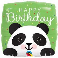 46 cm-es Mosolygó Panda Happy Birthday Szülinapi Fólia Lufi