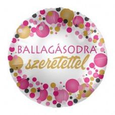 43 cm-es Ballagásodra Szeretettel Rózsaszín Pasztell Konfettis Parti Fólia Lufi