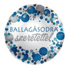 43 cm-es Ballagásodra Szeretettel Kék Pasztell Konfettis Parti Fólia Lufi