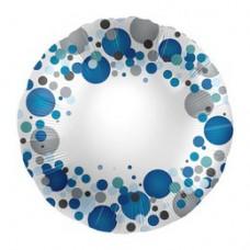 43 cm-es Kék Pasztell Konfettis Feliratozható Fólia Lufi