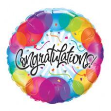 46 cm-es Gratulálunk - Congratulations Balloons Fólia Léggömb