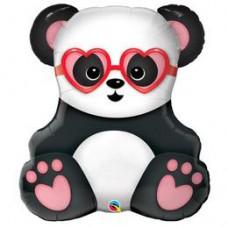 81 cm-es Lovestruck Panda Bear Szerelmes Fólia Lufi