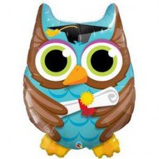 86 cm-es Bagoly - Graduate Owl Ballagási Fólia Lufi