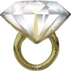 94 cm-es Diamond Wedding Ring Esküvői Fólia Lufi