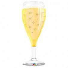 96 cm-es Bubbly Wine Bottle - Pezsgősüveg - Fólia Lufi