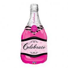 96 cm-es Bottle Celebrate Pink Bubbly Wine Fólia Lufi