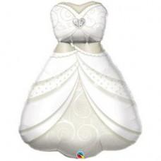 96 cm-es Bride's Wedding - Esküvői Ruha Dress Esküvői Fólia Lufi