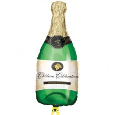 Pezsgősüveg - Champagne Bottle - Super Shape Fólia Lufi