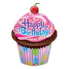 89 cm-es Muffin - Birthday Frosted Cupcake Szülinapi Fólia Lufi