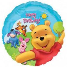 46 cm-es Micimackó - Pooh és Friends Sunny Birthday - Szülinapi Fólia Lufi