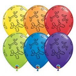 28 cm-es Lufikutya Mintás - Balloon Dogs Carnival Assortment Lufi (25 db/csomag)