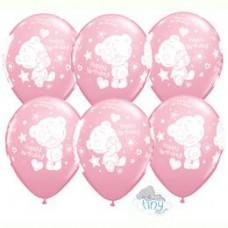 28 cm-es Tiny Tatty Birthday Pink Szülinapi Lufi 1 db