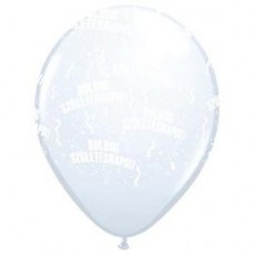 28 cm-es Boldog Születésnapot White Lufi 1 db