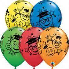28 cm-es  Graduation Smileys Special Assortment Ballagási Lufi