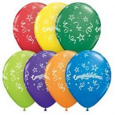 28 cm-es  Congratulations Streamers Carnival Lufi