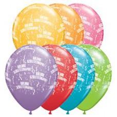 28 cm-es Boldog Születésnapot Festive Lufi 1 db