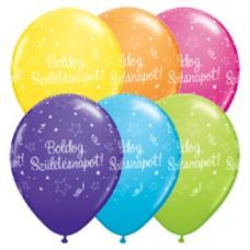28 cm-es Boldog Születésnapot Shining Star Tropical Assortment Szülinapi Lufi 1 db
