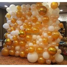 Organics léggömbfal arany-fehér