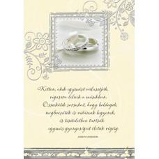 Zenélő képeslap - Esküvőre- Gyűrűs