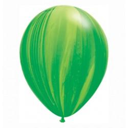 11 inch-es Green Rainbow SuperAgate Kerek Latex Lufi (25 db-os csomag)