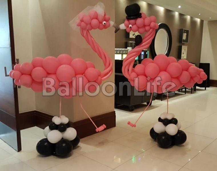 esküvői flamingók